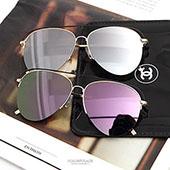 墨鏡 金屬半框反光太陽眼鏡