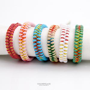 混色雙層編織繩手環