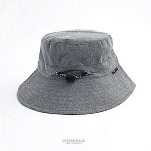 帽子 灰色可調式漁夫帽