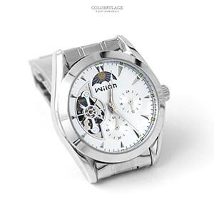 機械錶 時尚兩眼日夜星辰錶