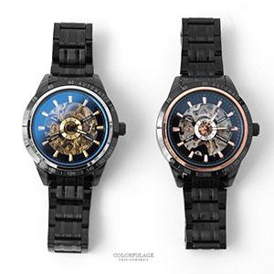 機械錶 個性外框數字鏤空手錶