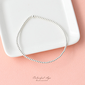 手環 925純銀優美串珠手鍊