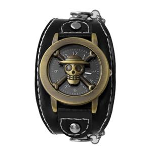 海賊王骷髏開蓋式鎖鍊手錶