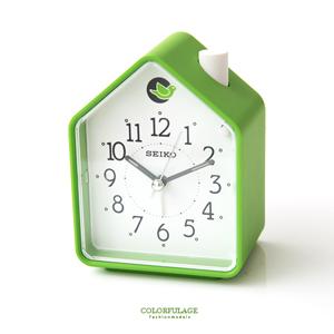 SEIKO歐式綠色小木屋貪睡鬧鐘