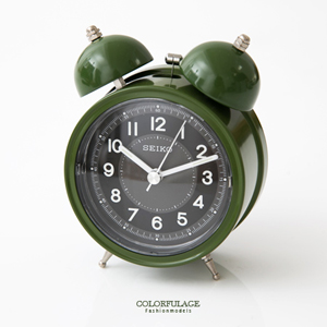 SEIKO軍綠色大聲公造型鬧鐘