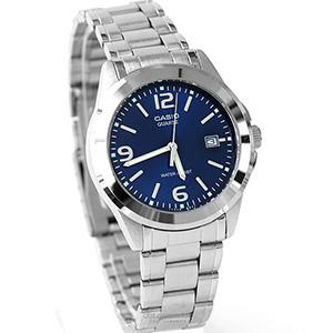 CASIO卡西歐沉穩藍面指針腕錶