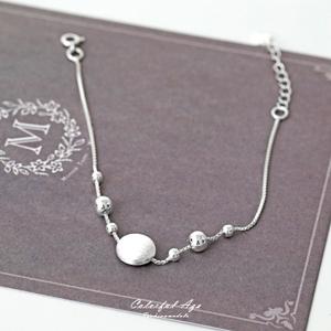 925純銀霧面髮絲紋手鍊