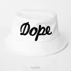 刺繡DOPE休閒個性漁夫帽