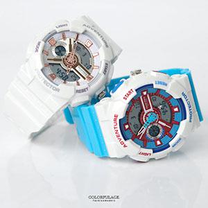 時尚雙顯防水100M電子錶