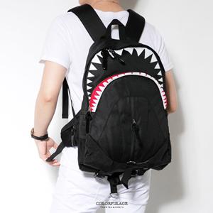 舒適減壓鯊魚造型後背包