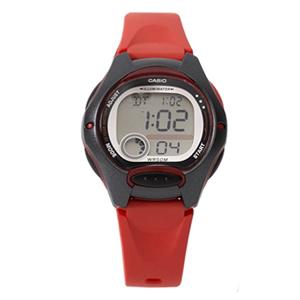 CASIO卡西歐輕巧黑紅運動手錶