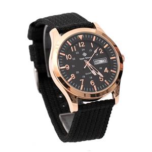 搭戴SEIKO機芯型男帆布手錶