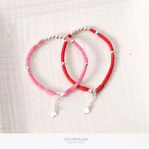 925純銀氣質串珠編織手環