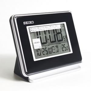SEIKO精工黑色液晶電子鬧鐘