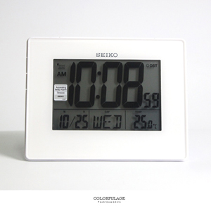 SEIKO精工全白數位電子鬧鐘